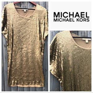 Michael Kors Gold Sequin Mini Dress